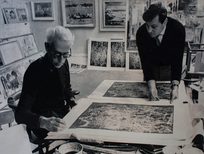 John Piper CH and Timothy Simon Co Director of Curwen Studio
