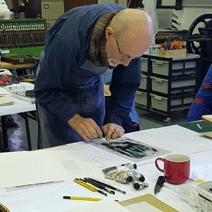 Monoprinting as illustration with Charles Shearer RCA – Artist, Illustrator and Printmaker
