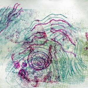 Monoprinting using Drawing and Painterly Methods at Wellcome Trust Genome Campus