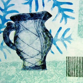 Monoprinting using Textures and Found Objects